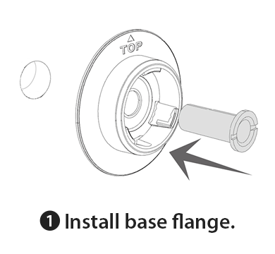 Step.1-Install base flange.