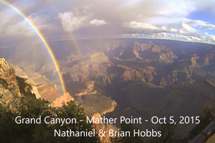 Grand Canyon Double Rainbow Time Lapse