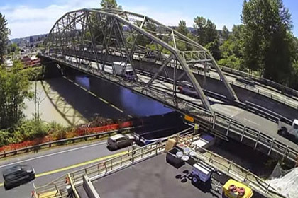 SR 167 Puyallup River Bridge Move