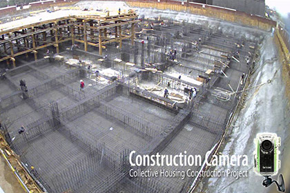 Construction Camera Collective Housing Construction Project