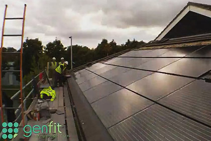 Genfit Channel Trailer - Timelapse of Solar PV and Wind Turbine Installations